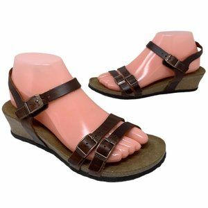 Papillio Womens Lana Ankle Strap Sandals Brown New
